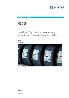 NordTyre - Tyre/road noise testing on various road surfaces