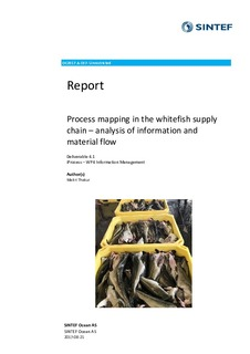 Process mapping in the whitefish supply chain – analysis of
